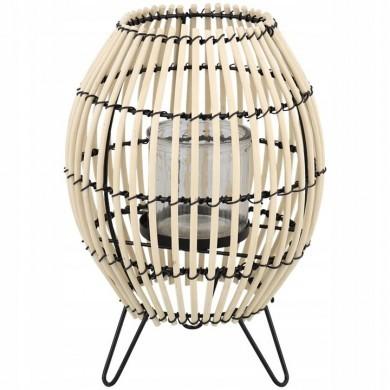 Lampion bambusowy pleciony