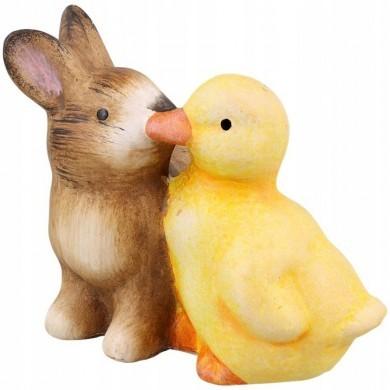 Figurka zajączek + kurczaczek