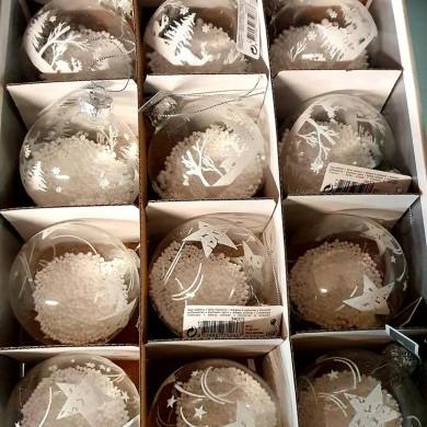 Bombki na choinkę - komplet - 12 sztuk