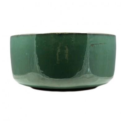Donica zielona okrągła 21 x 10 cm