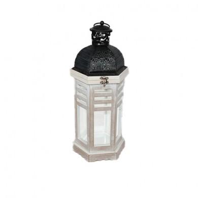 Lampion drewniany -  40 cm