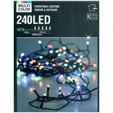 Lampki choinkowe kolorowe - 240 LED