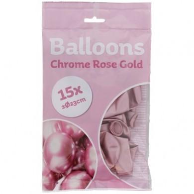 Balony chromowane 15szt