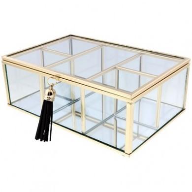 Szkatułka szklana z lustrem