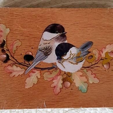 Pieczątka drewniana Ptaszki