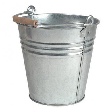 Wiadro cynkowe srebrne błysk L