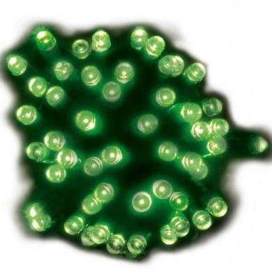Lampki solarne 50 led zielone