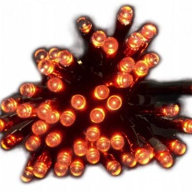 Lampki solarne 50 led czerwone