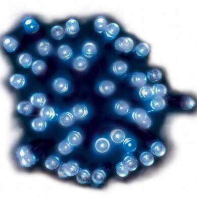Lampki solarne 50 led niebieskie