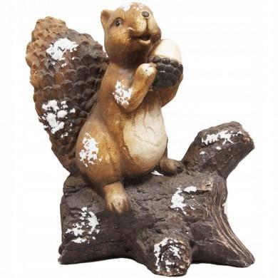 Figurka wiewiórka - śnieg