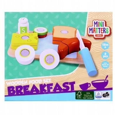 Drewniane akcesoria śniadanie