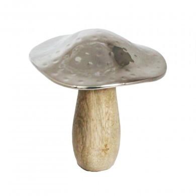 Figurka ozdobna mała ceramiczna - grzyb - glamour