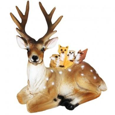 Figurka ozdobna dekoracja jelonek ze zwierzątkami