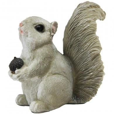 Figurka ozdobna wiewiórka z żołędziem - mała - dekoracyjna