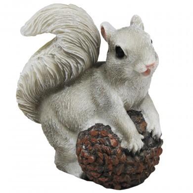 Figurka ozdobna wiewiórka z szyszką - mała - dekoracyjna