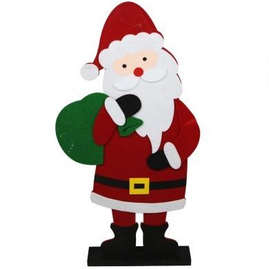 Figurka świąteczna z filcu - Mikołaj - duża
