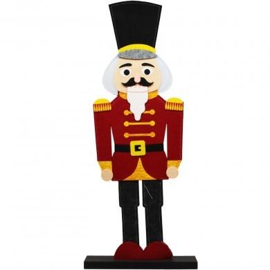 Figurka świąteczna z filcu - Dziadek do orzechów - duża