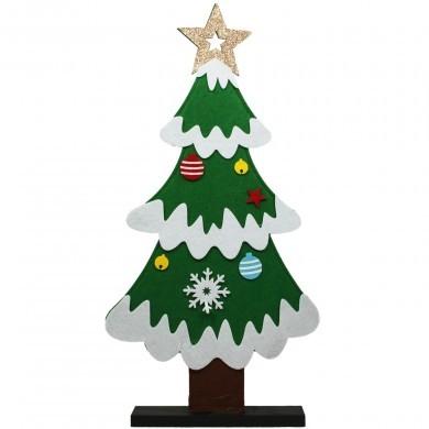 Figurka świąteczna z filcu - Choinka - duża