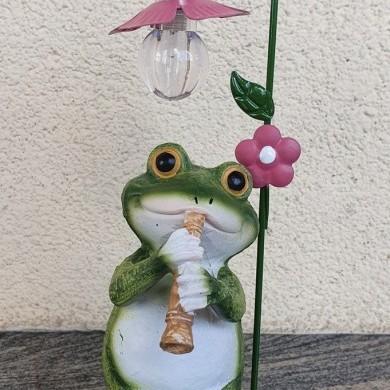 Figurka z lampą żaba