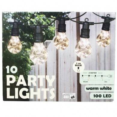 Girlanda biała ciepła 100 LED - 10 żarówek