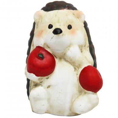Figurka ozdobna Jeż z jabłkiem - mała - dekoracyjna