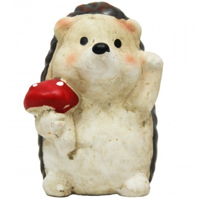 Figurka ozdobna Jeż z muchomorem - mała - dekoracyjna