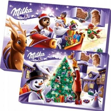 Kalendarz Adwentowy z czekoladkami Milka