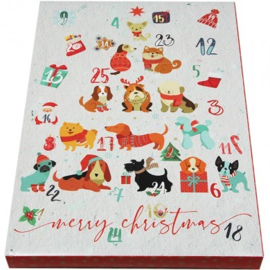 Kalendarz adwentowy z przysmakami dla psa