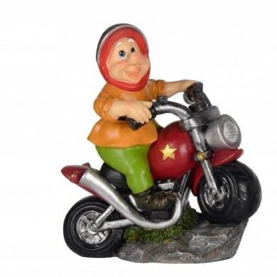 Krasnal na motocyklu