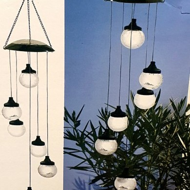 Lampa solarna wisząca - kule szklane
