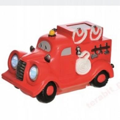Figurka solarna wóz strażacki
