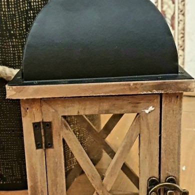 Lampion drewniany 35cm