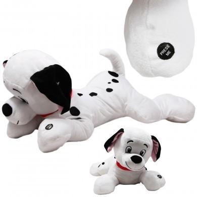 Maskotka grająca interaktywna z dźwiękiem - pies - dalmatyńczyk - 50 cm