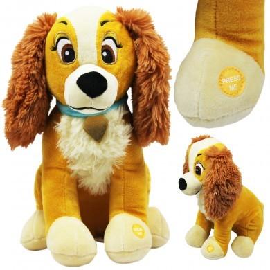 Maskotka grająca interaktywna z dźwiękiem - pies - zakochany kundel - 30 cm