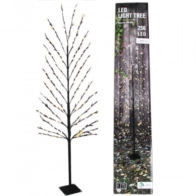 Drzewko metalowe z oświetleniem 256 LED 1,6 m - timer