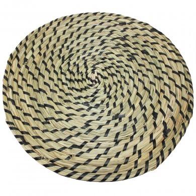 Podkładka pleciona boho etno ze wzorem - okrągła