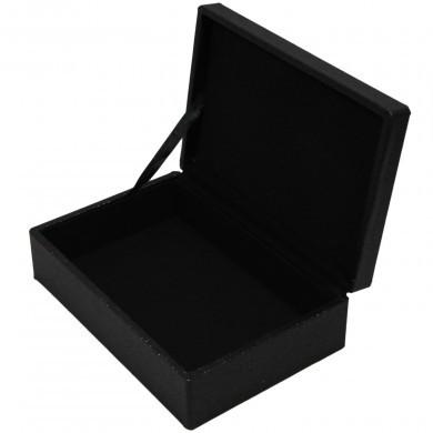Szkatułka pudełko na prezent drobiazgi brokatowa czarna