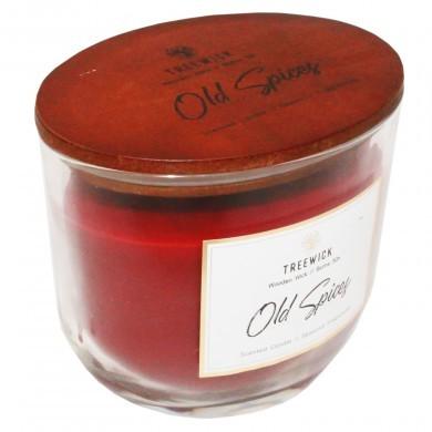 Świeca świeczka z drewnianym knotem Old Spices glamour