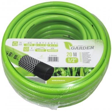 """Wąż ogrodowy 20 m - 1/2"""" - Stalco Garden S80200 - zielony elastyczny"""