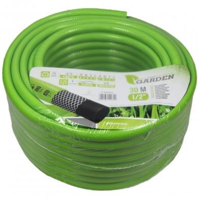 """Wąż ogrodowy 30 m - 1/2"""" - Stalco Garden S80202 - zielony elastyczny"""