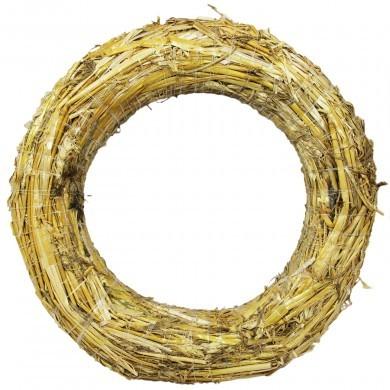 Stroik okrągły słomiany - wieniec