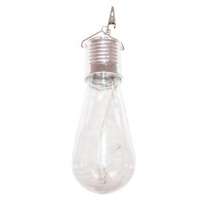 Lampa solarna żarówka LED okrągła