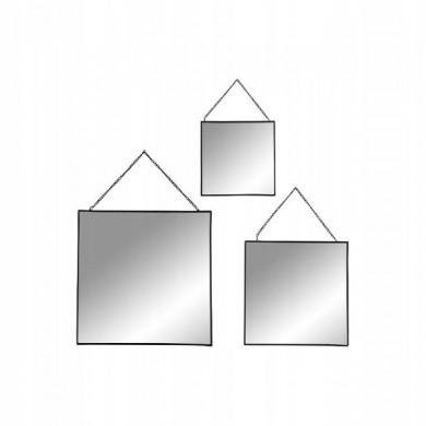 Lustro wiszące 3 szt kwadratowe
